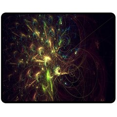 Fractal Flame Light Energy Fleece Blanket (Medium)