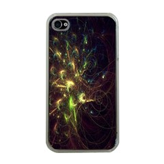 Fractal Flame Light Energy Apple iPhone 4 Case (Clear)