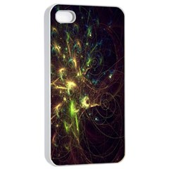 Fractal Flame Light Energy Apple iPhone 4/4s Seamless Case (White)