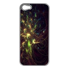 Fractal Flame Light Energy Apple iPhone 5 Case (Silver)