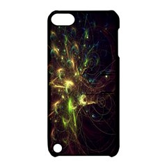 Fractal Flame Light Energy Apple iPod Touch 5 Hardshell Case with Stand