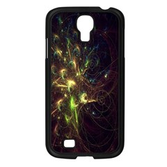 Fractal Flame Light Energy Samsung Galaxy S4 I9500/ I9505 Case (Black)
