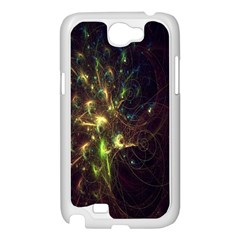Fractal Flame Light Energy Samsung Galaxy Note 2 Case (White)