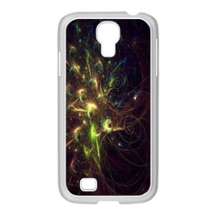 Fractal Flame Light Energy Samsung GALAXY S4 I9500/ I9505 Case (White)