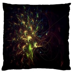 Fractal Flame Light Energy Large Flano Cushion Case (One Side)