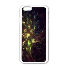 Fractal Flame Light Energy Apple iPhone 6/6S White Enamel Case