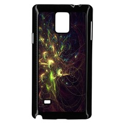 Fractal Flame Light Energy Samsung Galaxy Note 4 Case (Black)