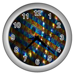 Fractal Fractal Art Digital Art  Wall Clocks (Silver)