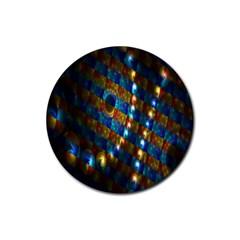 Fractal Fractal Art Digital Art  Rubber Round Coaster (4 pack)