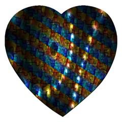 Fractal Fractal Art Digital Art  Jigsaw Puzzle (Heart)