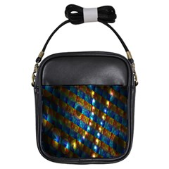 Fractal Fractal Art Digital Art  Girls Sling Bags