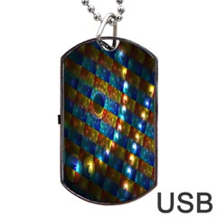 Fractal Fractal Art Digital Art  Dog Tag USB Flash (One Side)