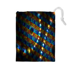 Fractal Fractal Art Digital Art  Drawstring Pouches (Large)