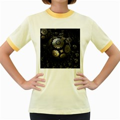 Fractal Sphere Steel 3d Structures  Women s Fitted Ringer T-Shirts