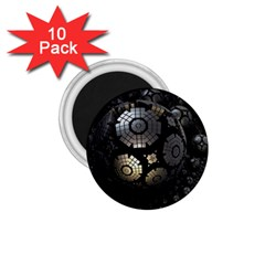 Fractal Sphere Steel 3d Structures  1.75  Magnets (10 pack)