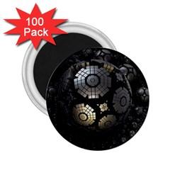 Fractal Sphere Steel 3d Structures  2.25  Magnets (100 pack)