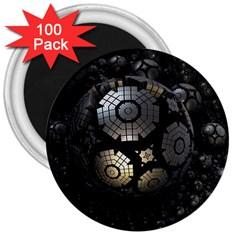 Fractal Sphere Steel 3d Structures  3  Magnets (100 pack)