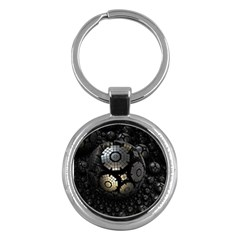 Fractal Sphere Steel 3d Structures  Key Chains (Round)