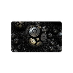 Fractal Sphere Steel 3d Structures  Magnet (Name Card)