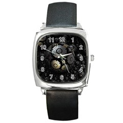Fractal Sphere Steel 3d Structures  Square Metal Watch
