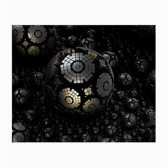 Fractal Sphere Steel 3d Structures  Small Glasses Cloth