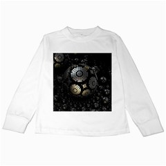Fractal Sphere Steel 3d Structures  Kids Long Sleeve T-Shirts