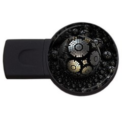Fractal Sphere Steel 3d Structures  USB Flash Drive Round (4 GB)