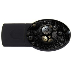 Fractal Sphere Steel 3d Structures  USB Flash Drive Oval (4 GB)