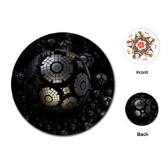 Fractal Sphere Steel 3d Structures  Playing Cards (Round)