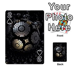 Fractal Sphere Steel 3d Structures  Playing Cards 54 Designs