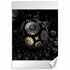 Fractal Sphere Steel 3d Structures  Canvas 12  x 18