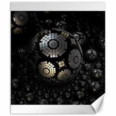 Fractal Sphere Steel 3d Structures  Canvas 20  x 24