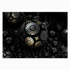 Fractal Sphere Steel 3d Structures  Large Glasses Cloth