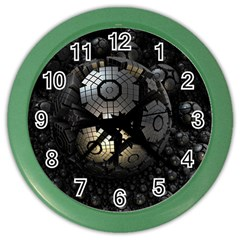 Fractal Sphere Steel 3d Structures  Color Wall Clocks