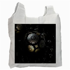 Fractal Sphere Steel 3d Structures  Recycle Bag (Two Side)