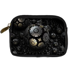 Fractal Sphere Steel 3d Structures  Digital Camera Cases