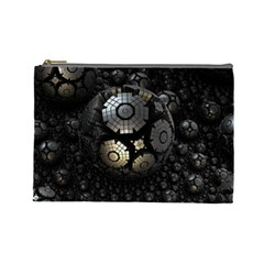 Fractal Sphere Steel 3d Structures  Cosmetic Bag (Large)