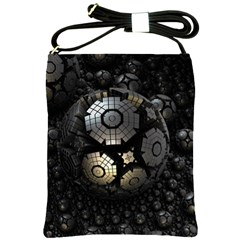 Fractal Sphere Steel 3d Structures  Shoulder Sling Bags