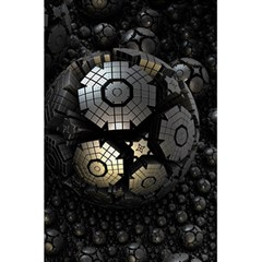 Fractal Sphere Steel 3d Structures  5.5  x 8.5  Notebooks