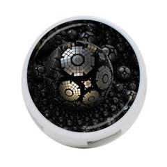 Fractal Sphere Steel 3d Structures  4-Port USB Hub (Two Sides)