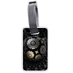 Fractal Sphere Steel 3d Structures  Luggage Tags (One Side)