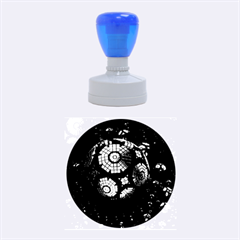 Fractal Sphere Steel 3d Structures  Rubber Round Stamps (Medium)