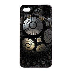 Fractal Sphere Steel 3d Structures  Apple iPhone 4/4s Seamless Case (Black)