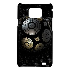 Fractal Sphere Steel 3d Structures  Samsung Galaxy S2 i9100 Hardshell Case