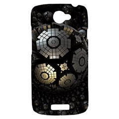 Fractal Sphere Steel 3d Structures  HTC One S Hardshell Case