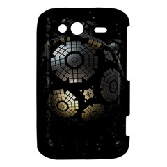 Fractal Sphere Steel 3d Structures  HTC Wildfire S A510e Hardshell Case
