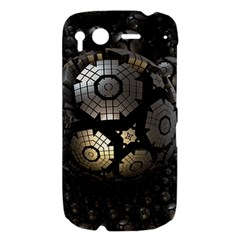 Fractal Sphere Steel 3d Structures  HTC Desire S Hardshell Case