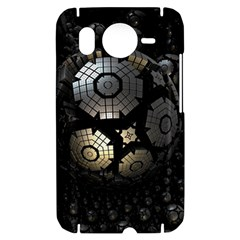 Fractal Sphere Steel 3d Structures  HTC Desire HD Hardshell Case