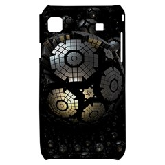 Fractal Sphere Steel 3d Structures  Samsung Galaxy S i9000 Hardshell Case