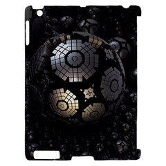 Fractal Sphere Steel 3d Structures  Apple iPad 2 Hardshell Case (Compatible with Smart Cover)